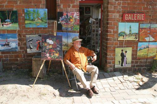 menininkai,mecklenburg west pomerania,gyvenimo menininkas,dailininkas,ateljė,galerija,meno galerija