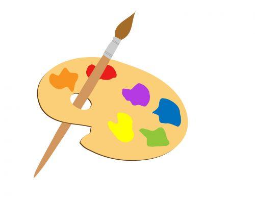 menininkai & nbsp, paletė, paletė, dažyti, dažai & nbsp, daubs, šepetys, dažyti & nbsp, teptuku, Iliustracijos, iliustracija, Scrapbooking, menininkų paletės iliustracijos