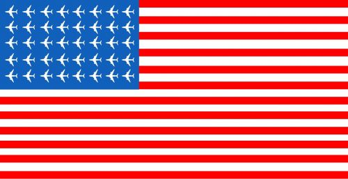 Meno Kūriniai, Usa Flag, Lėktuvas, Amerikietis, Nacionalinis, Usa, Vėliava, Dizainas, United, Valstybė, Šalis, Simbolis, Naujas, Stilius, Plakatas