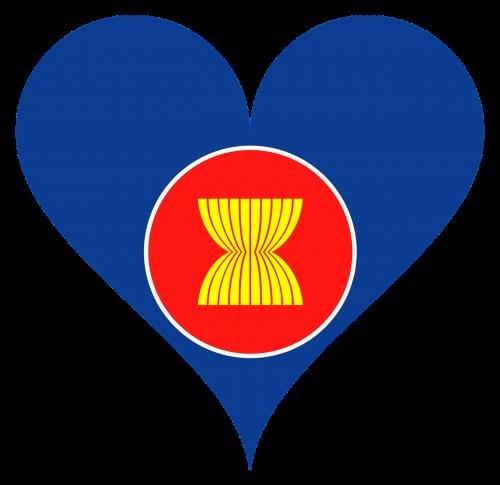 asean,asija,Pietryčių Azija,vėliava,logotipas,organizacija,meilė,širdis