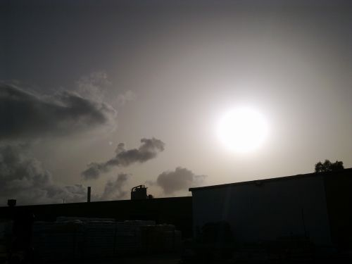 vulkaniniai & nbsp, pelenai, debesis, saulė, dangus, migla, siauras, pelenų debesis