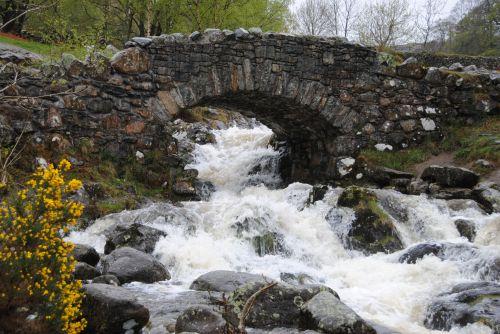 tiltas vanduo, švelnumas, akmuo, žiema, ahness tiltas