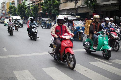 asija,į pietryčius,Tailandas,kelias,eismas,Bangkokas,transportas