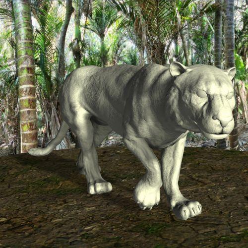asian, tigras, džiunglės, medžiai, krūmas, laukiniai, gyvūnas, 3d, piešimas, žvėrys, pavojingas, katė, mėsėdis, plėšrūnas, asian tiger 1