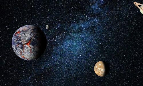 astronomija, mėnulis, planeta, darbastalio