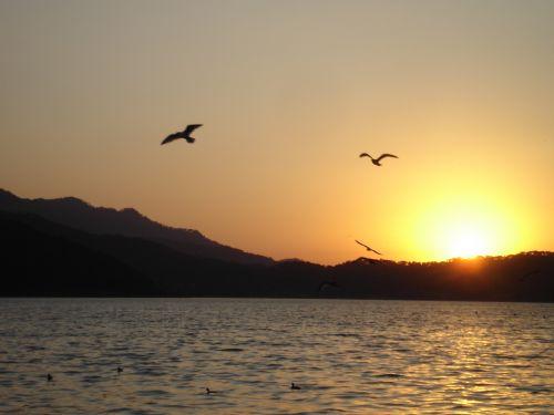 valle & nbsp, & nbsp, bravo, saulėlydis, saulėlydis, vakaras, ežeras, tvenkinys, meditacija, gamta, saulėlydis slėnis