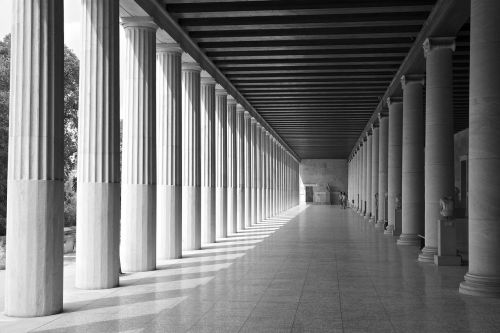 Atėnas,Graikija,sveikas,graikų kalba,ekskursijos,vasara,Viduržemio jūros,architektūra,pastatas,akropolis,muziejus,arcade,fasadas,stulpelis,vienspalvis,juoda,balta,juoda ir balta,juoda ir balta nuotrauka