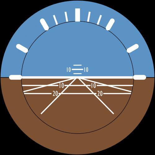 požiūrio rodiklis,aviacija,dirbtinis horizontas,gyro horizontas,lėktuvas,rodyti,skrydžio treniruoklis,skraidantis,nemokama vektorinė grafika