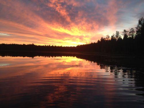 saulėlydžio,ežeras,Afterglow
