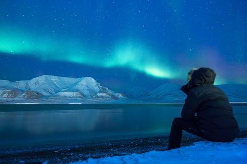 aurora,Aurora borealis,sniegas,šiaurės žiburiai,mėlynas žvaigždėtas dangus,alaska,poliariniai žiburiai,snieguotas kraštovaizdis,arktinė,žibintai,gamta,šviesos reiškinys,stebuklinga naktis,mėlynas ir žalia žvaigždėtas dangus,Šiaurės ašigalis,svalbaras,ilgai gyvena