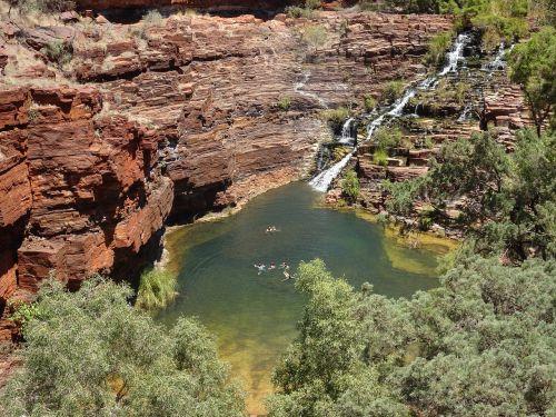australia,karijini nacionalinis parkas,gamta,Vakarų Australija,plaukti,Vakarų Australija,wa,gamtos rezervatas,Nacionalinis parkas,požiūris,idiliškas