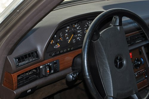 automatinis, MERCEDES, w126, kl, Prietaisų skydelis, transporto priemonės, transporto sistema, vairas, transporto priemonės vidaus, Oldtimer, klasikinis, automobilių, spidometras, armatūra, automobilių, per, ant vairo