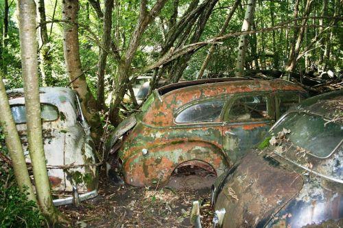 automobiliai,senas,rūdys,aplinkos nuodėmė,tarša,automobilių kapinės,oldtimer