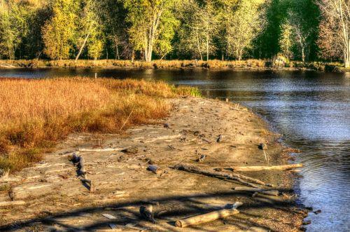 kritimas, ruduo, lapija, medžiai, upė, winooski upė, Vermont, nauja & nbsp, Anglija & nbsp, kritimas, sezoninis, vanduo, rudens upė