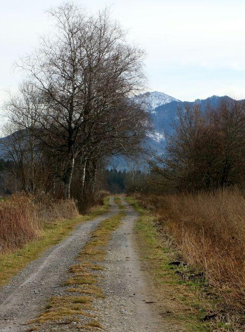 toli,juostos,vaizdingas,kraštovaizdis,žemės ūkio kelias,toli,kalnai,ruduo