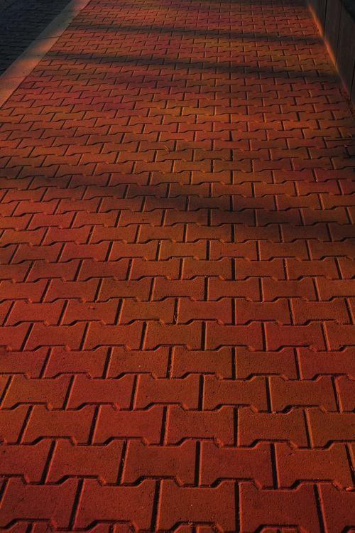 toli, brangakmeniai, kelias, akmenys, pleistras, žemė, modelis, gamta, kelių tiesimas, asfaltuotas, šaligatvis, asfaltuotas kelias, raudona, šešėlis, lichtspiel, saulė, spalvinga, spalva, šviesa