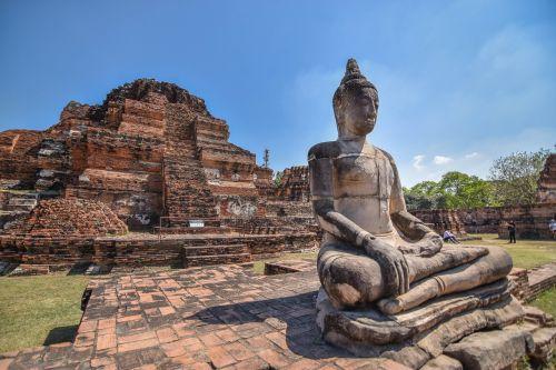 Ayutthaya,senovės,priemonė,menas,Ayutthaya istorinis parkas,tikėjimas,Tailandas,Ayutthaya senas,senovės Siam
