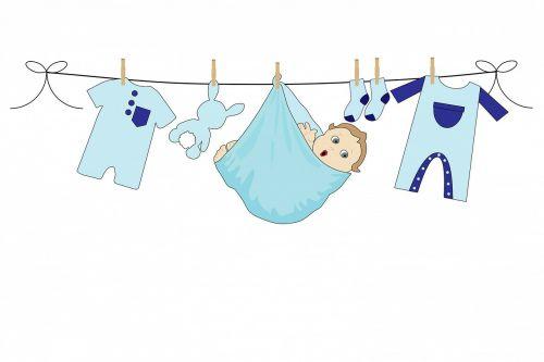 kūdikis,berniukas,mėlynas,drabužiai,linija,skalbimas,skalbiniai,drabužių linija,plovimo linija,pakabinimas,mielas,menas,balta,fonas,kortelė,šablonas,Gimdymas,skelbimas,kūdikio dušas