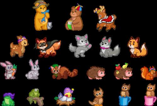 kūdikių gyvūnai,turėti,zuikis,mieli gyvūnai,elnias,Doe,miško gyvūnai,lapė,varlė,ežiukas,pelėdos,triušis,Raudonoji panda,voverė,Laukiniai gyvūnai,vilkas,gamta,rinkimas,nustatyti,laukiniai,gyvūnai,mielas,nemokama vektorinė grafika