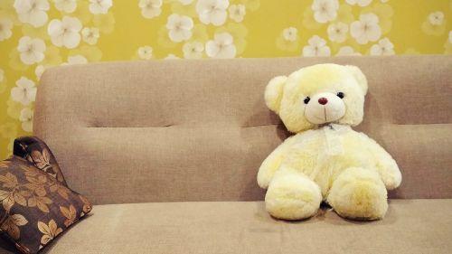 kūdikio žaislas,ruda,pagalvėlė,gėlių tapetai,žalias,vaikų žaislas,sofa,minkštas žaislas,pliušinis žaislas,meškiukas,siena,tapetai,geltona