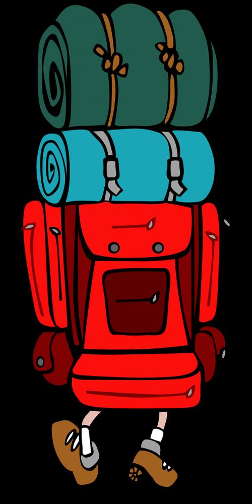 kuprinė,keliautojas,pasivaikščiojimas,keliautojas,backpacker,kuprinė,keliautojas,animacinis filmas,nemokama vektorinė grafika