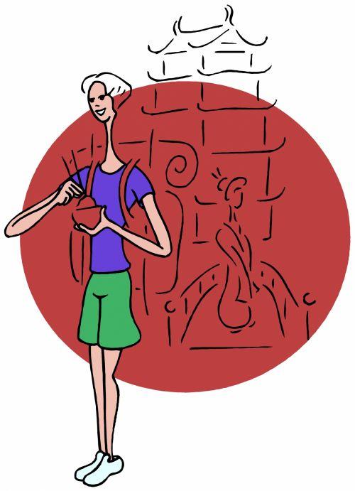 Kinija, asija, kultūra, tradicija, liaudies, kuprinė, šventė, vaikščioti, klajoti, pėdos, backpacker, atrasti, turistinis, sightseer, maistas, kaimas, miestai, laukiniai & nbsp, gyvi, gamta, kuprinė - Kinija