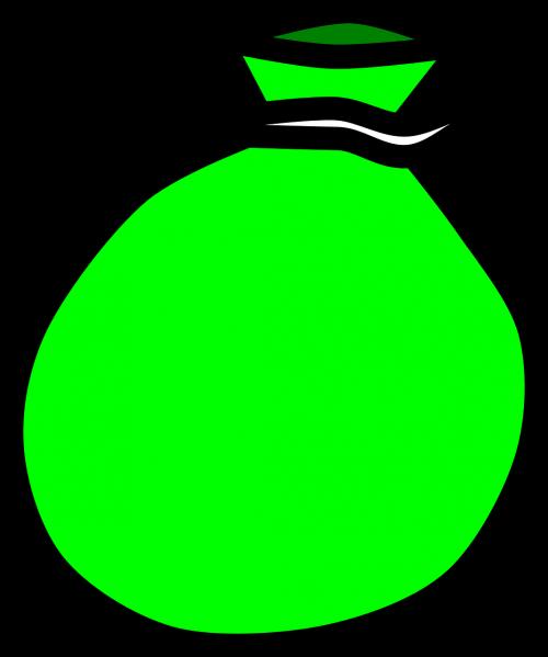 maišas,maišas,Moneybag,maišas,piniginė,žalias,pilnas,animacinis filmas,nemokama vektorinė grafika
