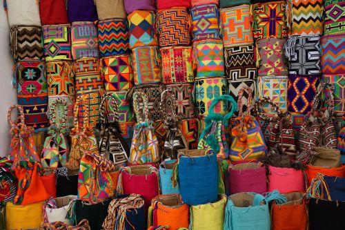 maišeliai,turgus,kartagena,spalvinga,gatvės turgus,rankų darbo,tradicinis,mezgimas