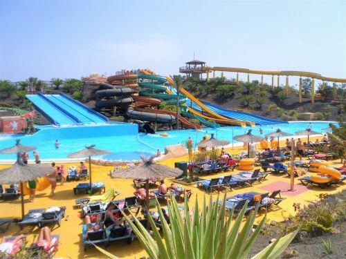 Fuerteventura, vandens parkas, vanduo, parkas, Baku, skaidrių, linksma, šventė, turizmas, corralejo, baku vandens parkas, Fuerteventura