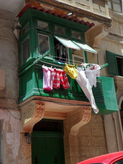 balkonas,skalbiniai,Viduržemio jūros,sausas,sausas skalbimas,priklausyti
