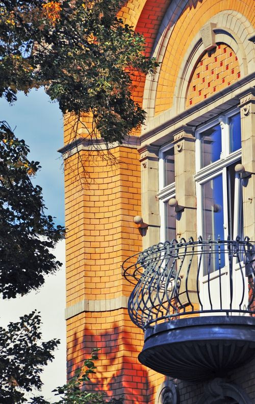 balkonas,gamyklos savininko vila,vila,miškininkystė,forus lausitz,miesto namas