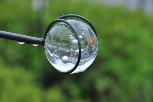 rutulys,dekoravimo jardin,sodas,apdaila,skulptūra,atspindys,lietus