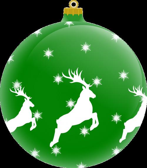 rutulys,šiaurės elniai,Kalėdų papuošalas,Kalėdos,beabilis,žalias,nemokama vektorinė grafika