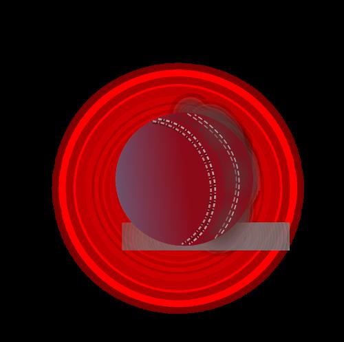 rutulys,Kriketas,oda,raudona,baltos siūlės,nemokama vektorinė grafika
