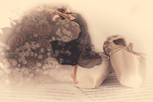 Baletas, rožės, elegancija, klasikiniu, avalynė