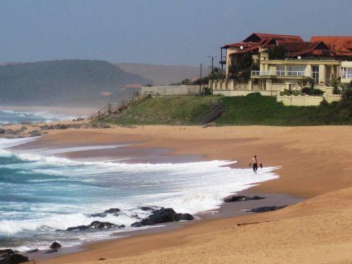 jūra, vanduo, mėlynas, papludimys, bangos, balta, paplūdimys & nbsp, namas aukštai & nbsp, up & nbsp, dunai, žalias, nuvalytas & nbsp, smėlis, dangus, balito paplūdimys