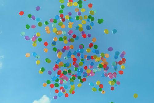 balionai,spalvinga,spalvinga,hd tapetai,dangus