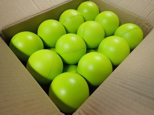 rutuliai, dėžė, žalias, kartonas, šviesus