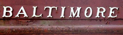 baltimore, raidės, ženklas, Baltimore ženklas
