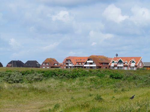 baltrum,Šiaurės jūra,sala,kaimas,namai,namai,bendruomenė,kopos sala,rytinė frisia,žemutinė Saksonija,rytų fryzų sala