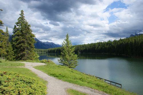 banff,Kanada,vaikščioti,gamta,kalnas,parkas,vasara,laukiniai,aplinka,vaikščioti