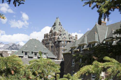 banff, spyruoklės, viešbutis, uolos ir kalnus, Banff spyruoklės viešbutis akmeniniai kalnai