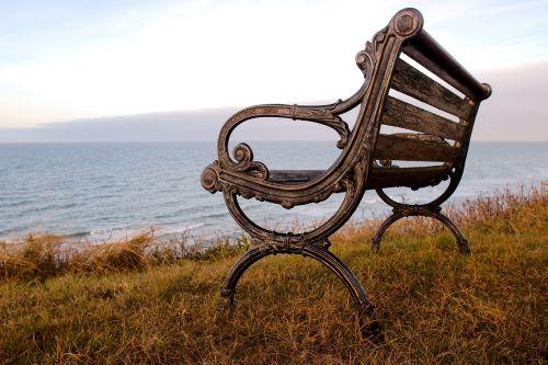 bankas,jūra,vandenynas,papludimys,Baltijos jūra,denmark,gamta,sodo stendas,poilsis,atsipalaiduoti,mediena,stendas,poilsio vieta,sėdėti,atsigavimas,out,pertrauka,idiliškas,parko suoliukas,medinis stendas,senas stendas,geležis,ornamentas,kopos,kranto,suklastotas,verschnörkelt