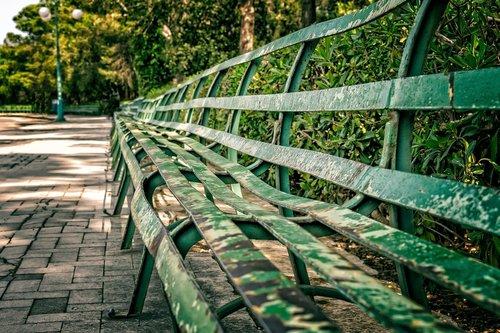 bankas, sėdėti, parkas, ilgai, metalo, iš, poilsio, pertrauka, sėdynė, spustelėkite, suoliukas, sodo suoliukas, atsipalaiduoti, parko suoliukas, pobūdį, išsaugojimas, atsisakyta, tuščia