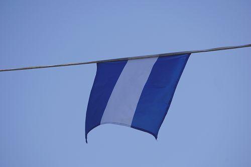 reklama, vėliava, vėjas, mėlynas & nbsp, dangus, miestas, miesto, vėliavos vėjas