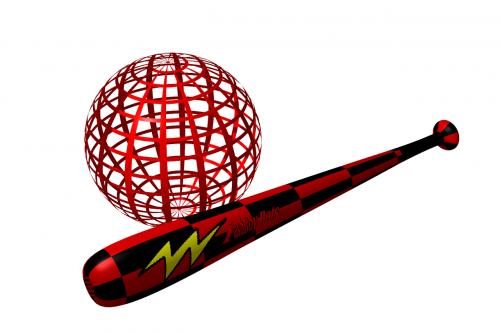 beisbolo lazda,gaublys,raudona,pavojingas,trapi,3d,planeta