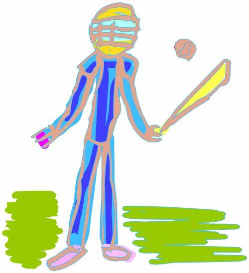 beisbolas, žaidėjas, rutulys, Sportas, piešimas, dažymas, beisbolo žaidėjas 2