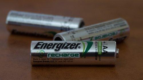 baterijos, Įkraunamas, Energizer, sidabras, Double A, baterija, aa, voltų, srovės stiprumas amperais, Elektros, energijos, galia, šaltinis, trys