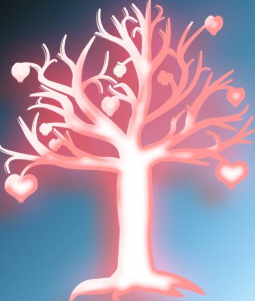 medis, neonas, švytėjimas, širdis, širdis, lapai, modelis, fonas, menas, iliustracija, Laisvas, Scrapbooking, viešasis & nbsp, domenas, širdies neonas medis