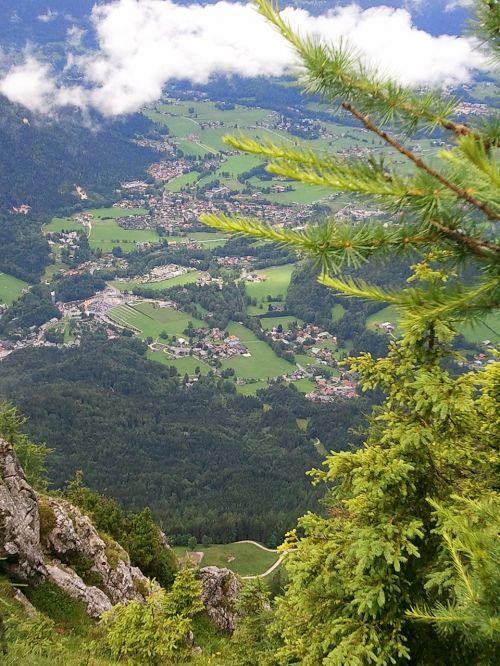bavarija,Bavarijos miškas,dangus,natūralus spektaklis,debesys,kalnai